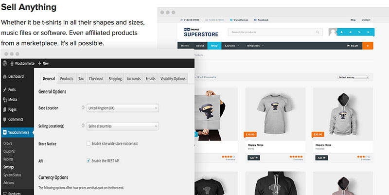 Add shopping cart and store to your WordPress website with WooCommerce.