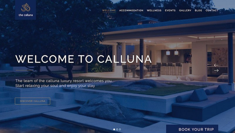 Calluna - Hotel, Resort & Spa PSD Template