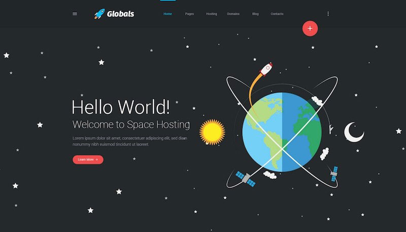 Globals - Material & Universal PSD Template