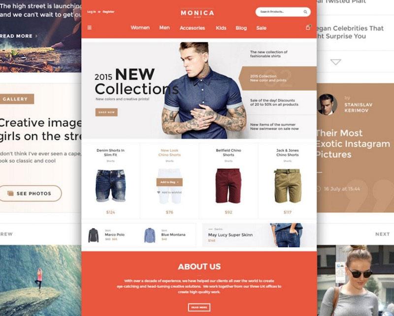 Monica Web User Interface Kit
