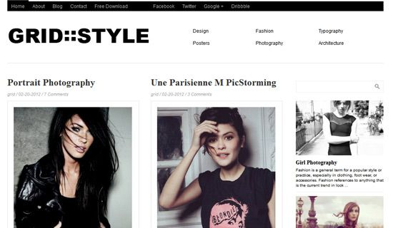 Gridstyle free wordpress theme