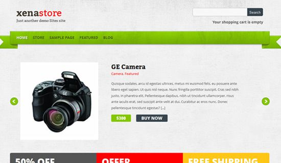Xenastore free wordpress theme
