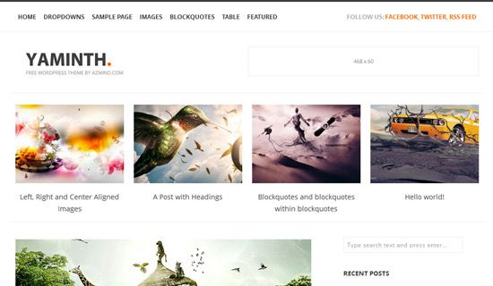 Yaminth free wordpress theme