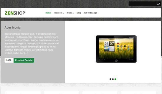 Zenshop free wordpress theme