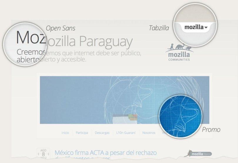 The consistency of Mozilla design.