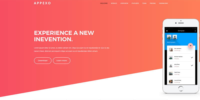 Appexo App Landing Page