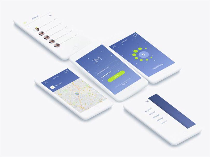ui prototype screens freebie