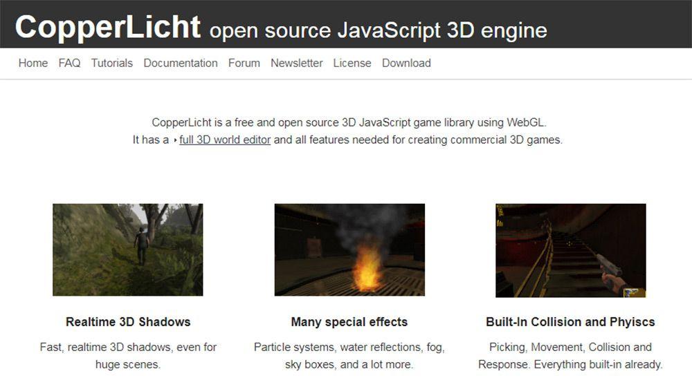 copperlicht homepage
