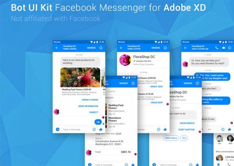 facebook messenger app gui