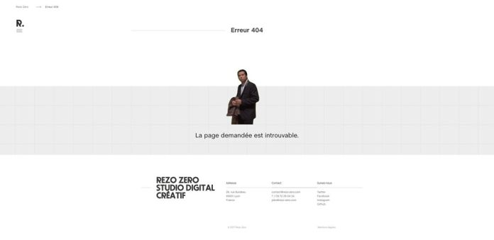 404 web page design Rezo Zero