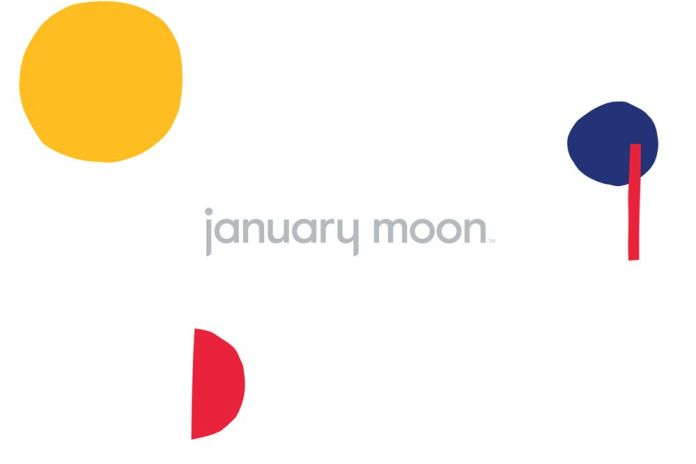 colorful logo design January Moon