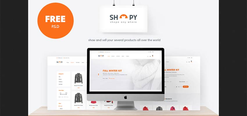 Shopy Ecommerce PSD Template