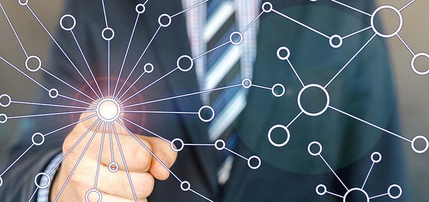 A network diagram.