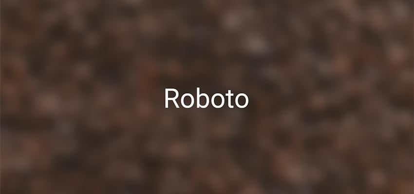 Example of Roboto
