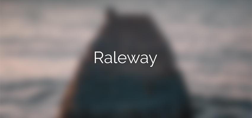 Example of Raleway