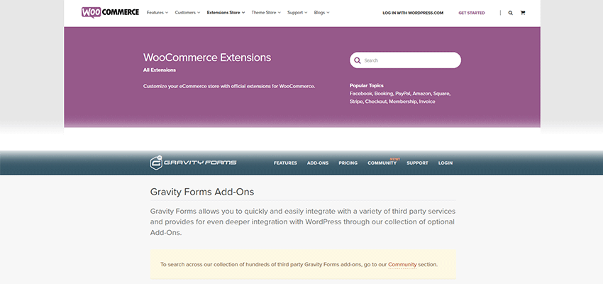 WooCommerce and Gravity Forms