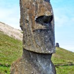 30ft tall Moai Statue. Easter Island, Chile
