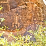 Ancient birthing process in Chevelon Canyon, Arizona