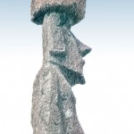 A mysterious Moai statue from Easter Island.