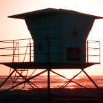 Quiet evening on Lifeguard Stand #6 ~ Redondo Beach