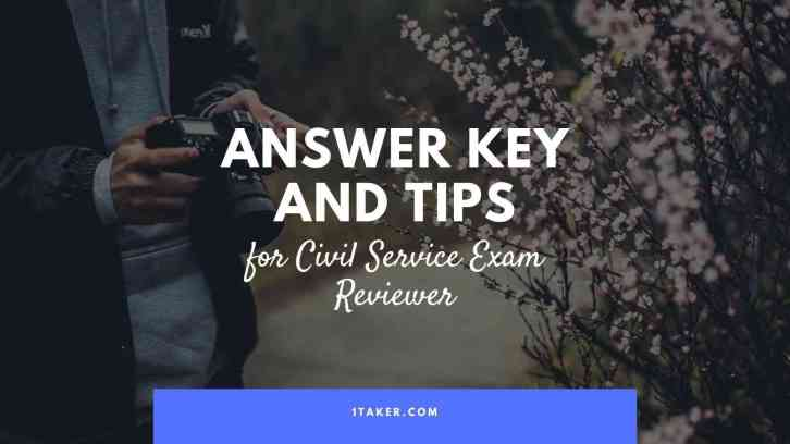 civil service exam answer key and tips philippines
