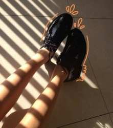 aesthetic brown header and shoes image #6056060 on Favim com