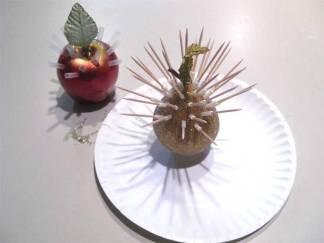 artificial fruit to serve frozen grapes