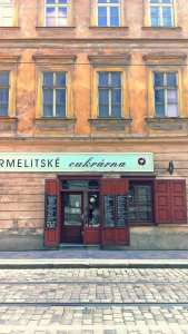 Prag Geschäft Altbau