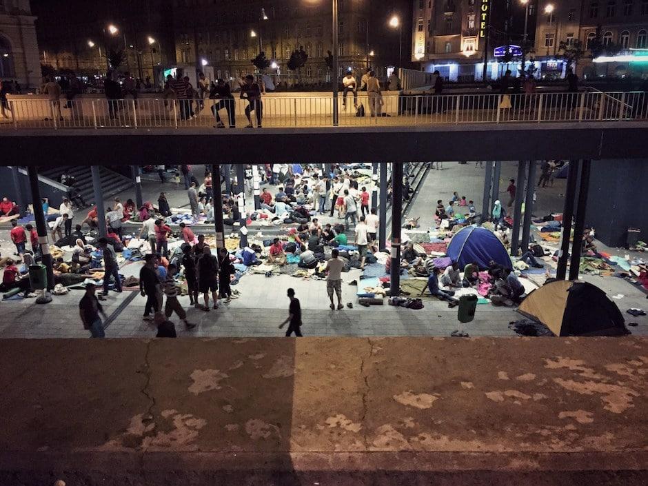 Budapest Flüchtlinge
