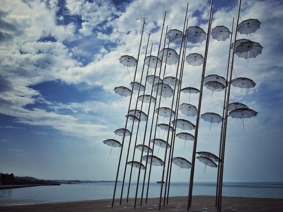 Thessaloniki Regenschirme
