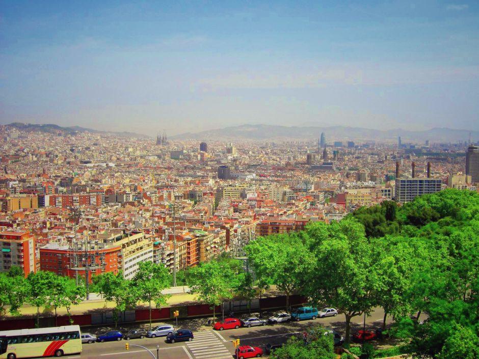 Barcelona Montjuic Panorama