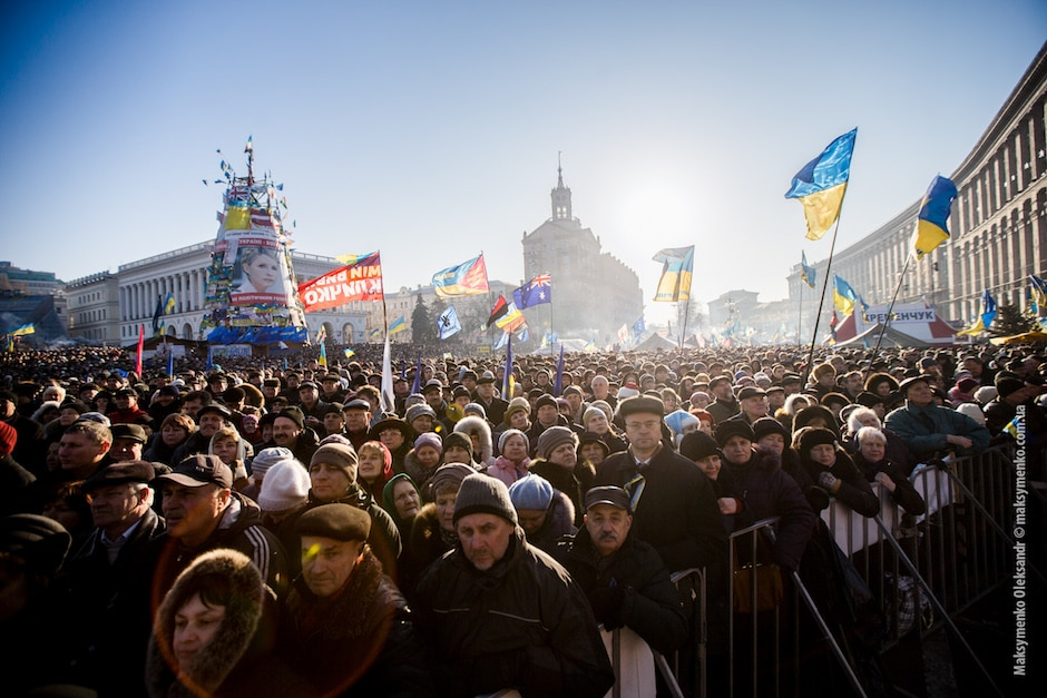 Protests continue in Kiev, everyday life in the Maidan, about a million people came to the popular assembly, independence Square in Kiev, Ukraine, on December 29, 2013. (Photo by maksymenko oleksandr/NurPhoto)