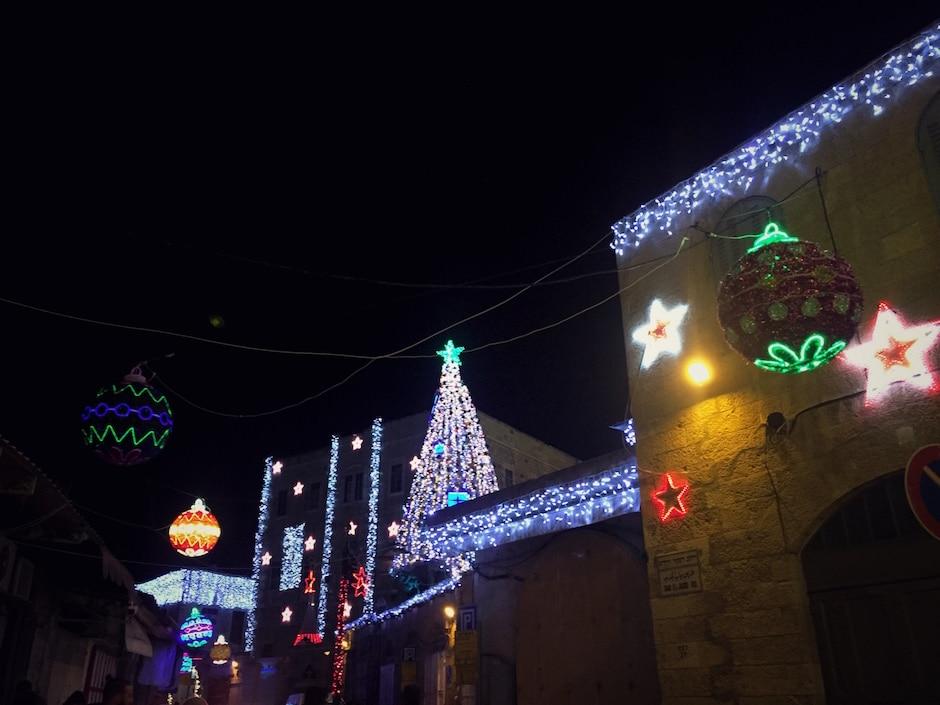 Israel im Winter Weihnachten