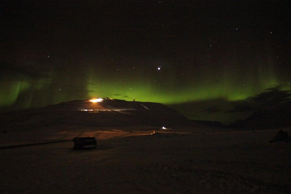 Nordlichter Spitzbergen