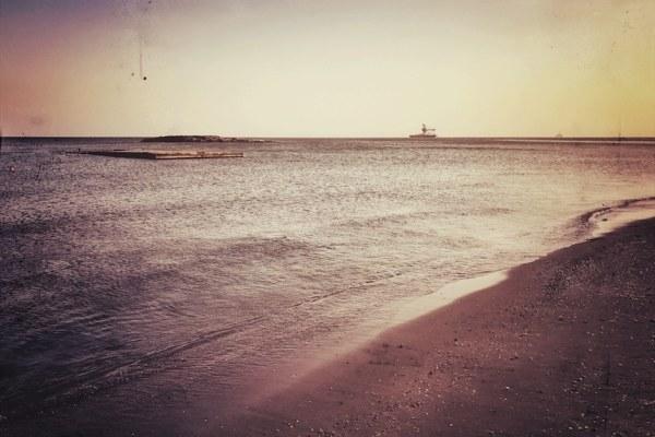 Baku Strand Baden im Kaspischen Meer
