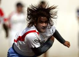 Dhoni long hair