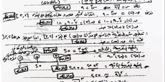 امتحان الانجاز في الرياضيات مع الإجابة النموذجية – التوجيهي العلمي 2017