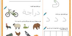 أوراق عمل متنوعة المهارات في حرف الدال