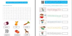 ملف بطاقات التعلم الذاتي لمادة اللغة الانجليزية للصف الثالث