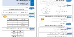 ملف بطاقات التعلم الذاتي لمادة الرياضيات للصف السادس