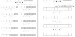أوراق عمل وبطاقات تدريبية لمكونات العدد (10)