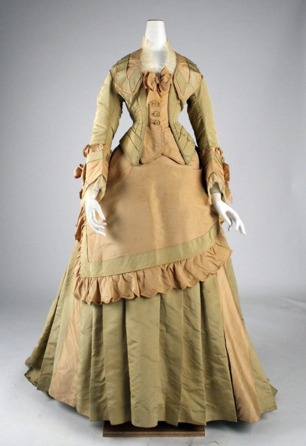 1872 Mon. Vignon Silk Day Dress Fashion History Timeline