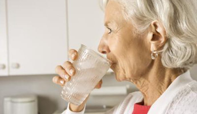 Image result for senior drinking water IMAGE