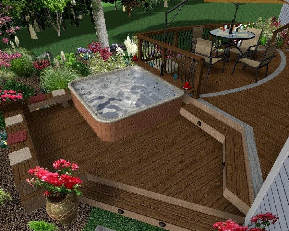 medium resolution of hot tub deck rendering with levels