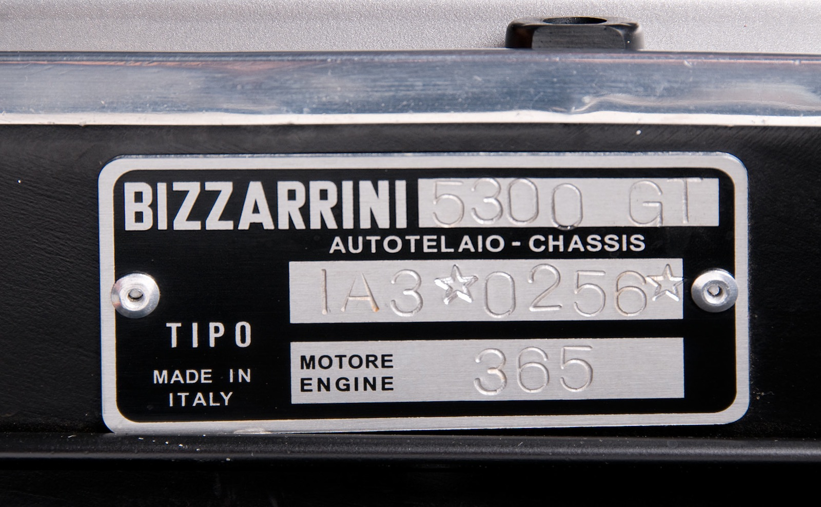Chaise Number 1966 Bizzarrini Gt 5300 Strada Chassis Number Ia3 0256