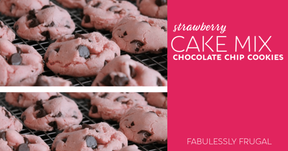 Valentines Day Strawberry Chocolate Chip Cookies