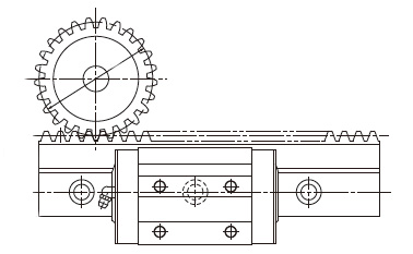 Profiled rail + rack & pinion = integrated solution