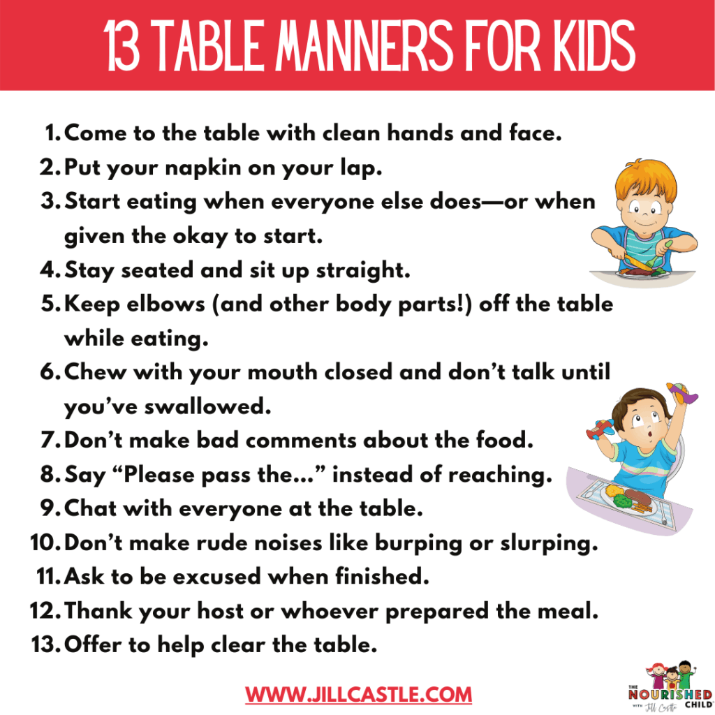 How To Teach Table Manners For Kids