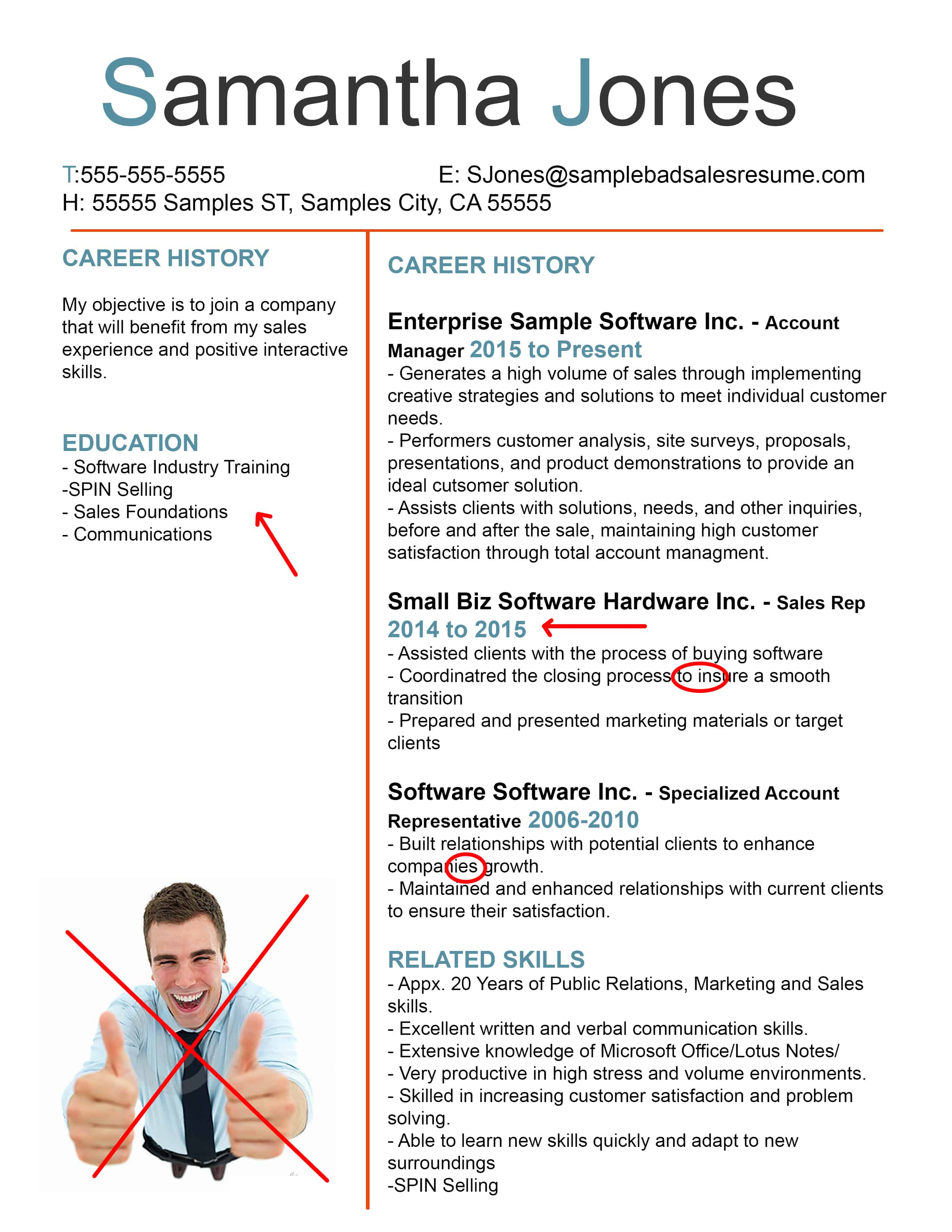 Good Sales Resume Examples The Anatomy Of A Terrible Sales Resume