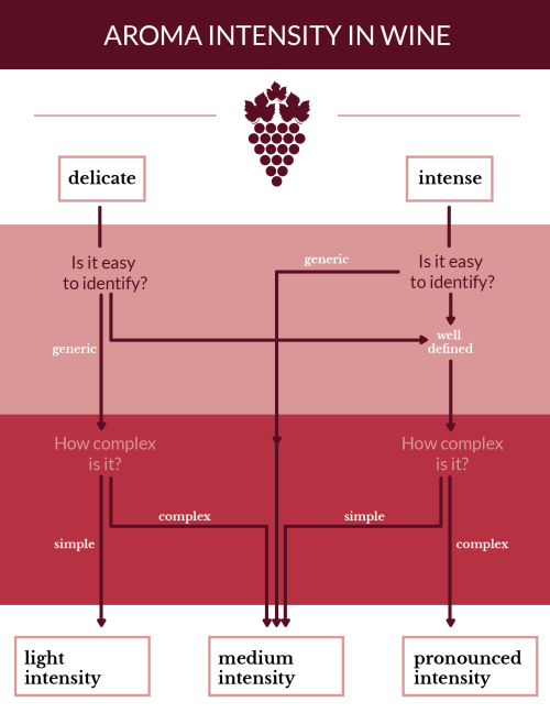small resolution of reaching the conclusion about the aroma intensity in wine
